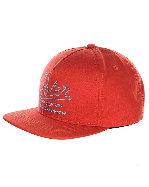 Poler | Мужская Коричневая Бейсболка Dreams Snap Back Burnt Orange