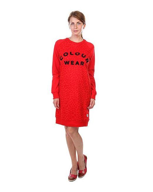 Clwr | Женское Красное Платье Женское Crew Dress Florida Red Leo