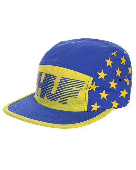 Huf | Мужская Жёлтая Бейсболка Пятипанелька Hell Track Volley Yellow/Blue