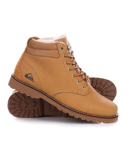 Quiksilver | Мужские Коричневые Ботинки Зимние Mission Boot Tan Solid