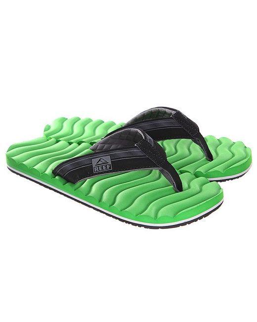 Reef | Мужские Чёрные Вьетнамки Swellular Green/Black