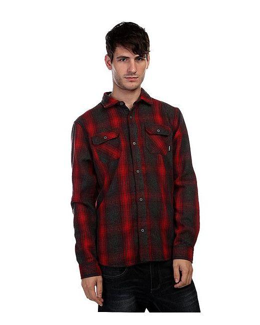 Nixon | Мужская Красная Рубашка Утепленная Southgate Shirt Burgundy