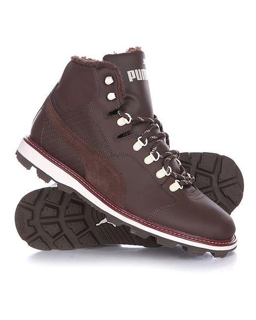 Puma | Мужские Коричневые Кеды Кроссовки Зимние Tatau Fur Boot Chocolate