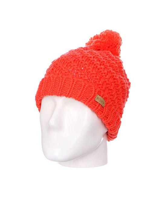 Roxy   Женская Оранжевая Шапка С Помпоном Женская Blizzard Beanie Nasturtium