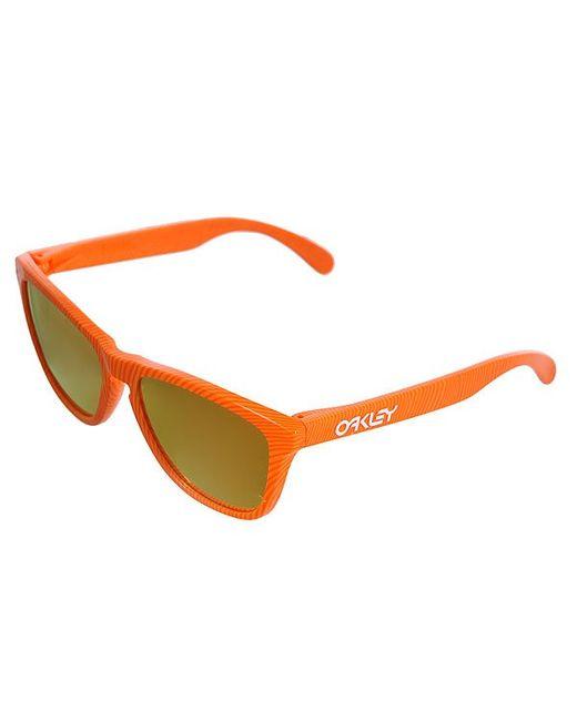 Oakley   Мужские Оранжевые Очки Frogskin Atomic Orange/Fire Iridium