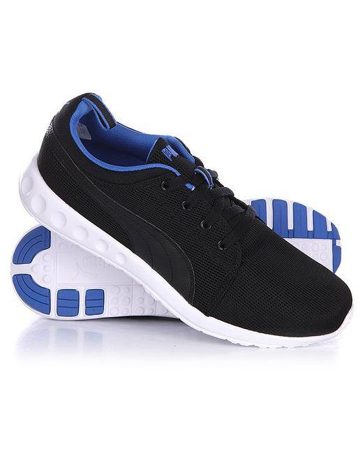 Puma   Мужские Чёрные Кроссовки Carson Runner Black/Strong Blue