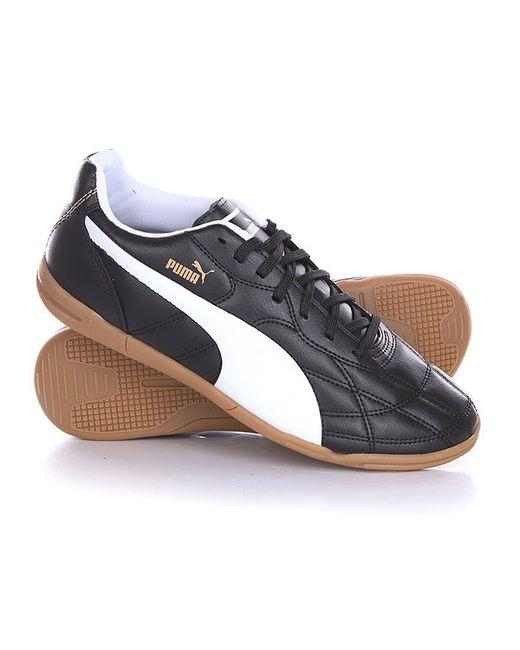 Puma | Мужские Чёрные Кеды Кроссовки Низкие Classico It Black/White/Gold