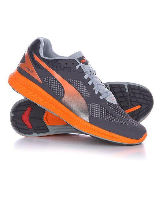 Puma | Мужские Оранжевые Кроссовки Ignite Mesh Periscope/Quarryvermillion Orange