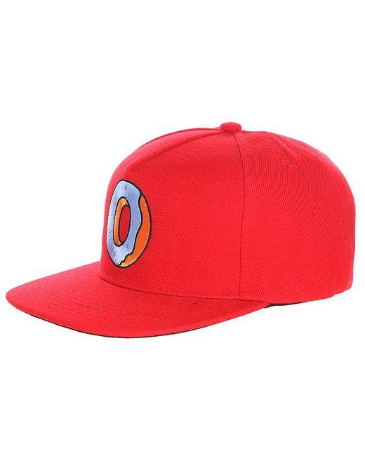 Odd Future   Мужская Красная Бейсболка С Прямым Козырьком Single Donut Snapback
