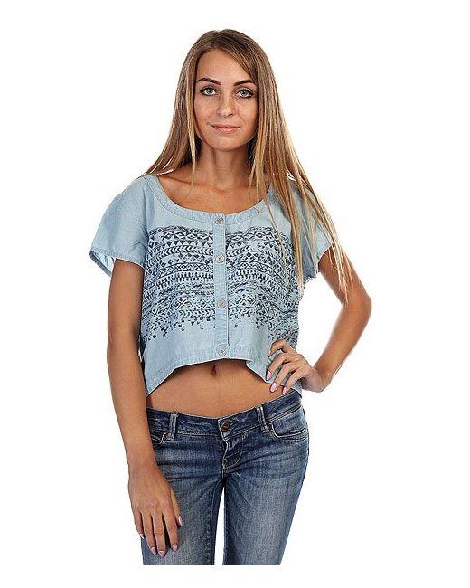 Insight   Женский Голубой Топ Женский West Crescent Shirt Mid Blue