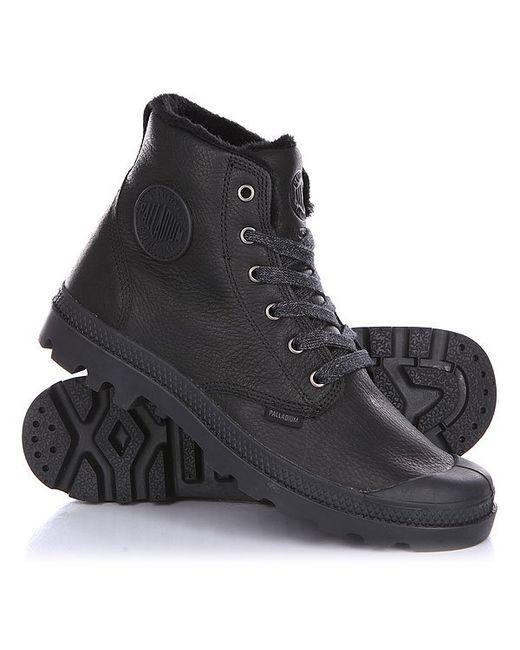Palladium   Мужские Чёрные Ботинки Зимние Pampa Hi L Gusset S