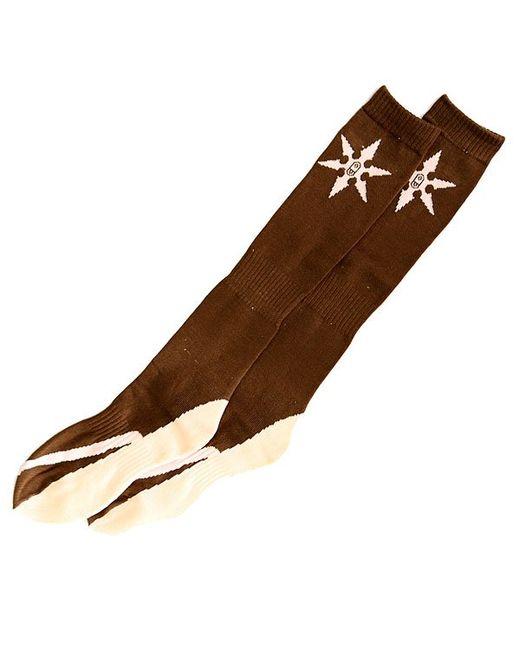 Airblaster | Мужские Бежевые Носки Высокие Ninja Sock Dark Brown