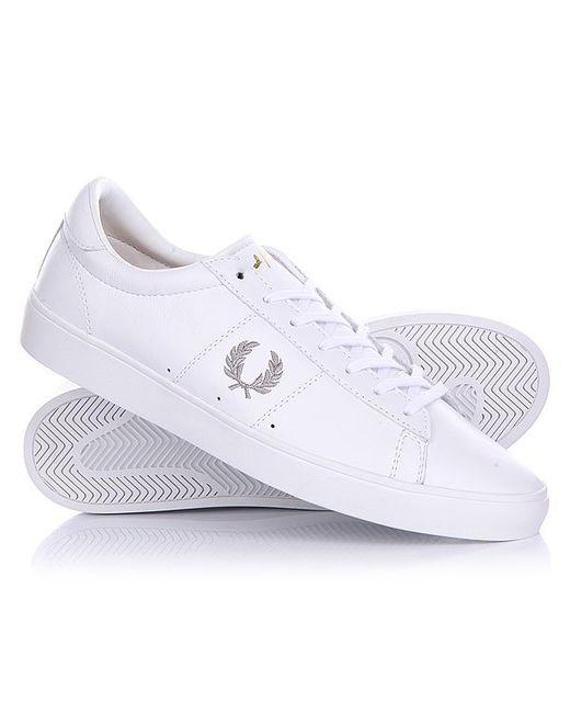 Fred Perry   Мужские Белые Кеды Кроссовки Низкие Spencer Optic Leather White