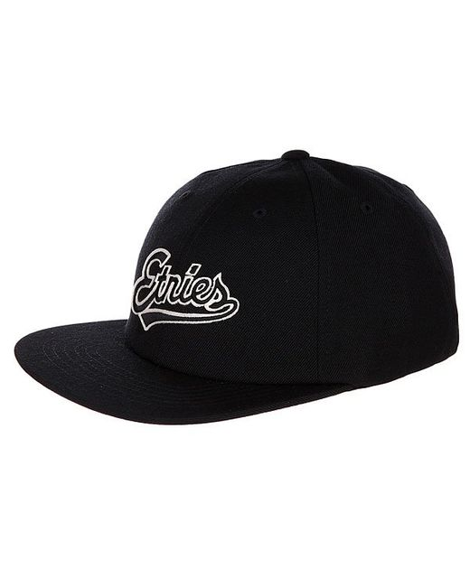 Etnies | Мужская Чёрная Бейсболка С Прямым Козырьком Tilney Ball Cap