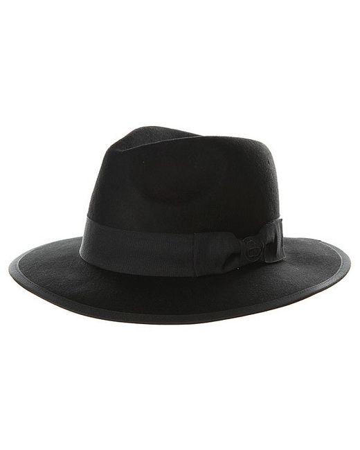 Stussy | Женская Чёрная Шляпа Женская Fedora Hat Black