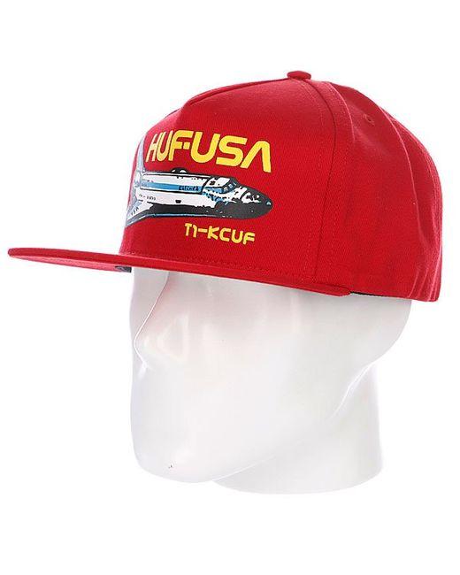 Huf | Мужская Красная Бейсболка Space Camp Snapback Red