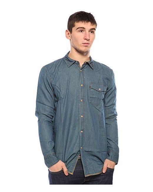 Globe | Мужская Синяя Рубашка Heist Shirt Dusk