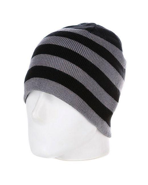 Urban Classics   Мужская Чёрная Шапка 2 Stripe Beanie Black/Grey