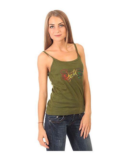 Santa Cruz | Женская Зелёная Майка Женская Signature String Olive
