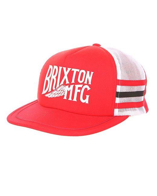 Brixton | Мужская Красная Бейсболка С Сеткой Coventry Mesh Cap White/Red