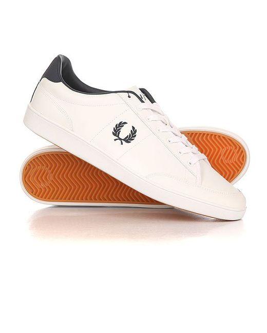 Fred Perry   Мужские Белые Кеды Кроссовки Низкие Hopman Leather Classic White