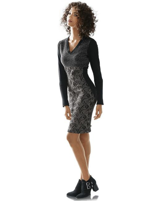 Linea Tesini | Женское Серое Платье