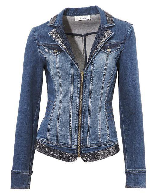 Linea Tesini | Женская Синяя Джинсовая Куртка