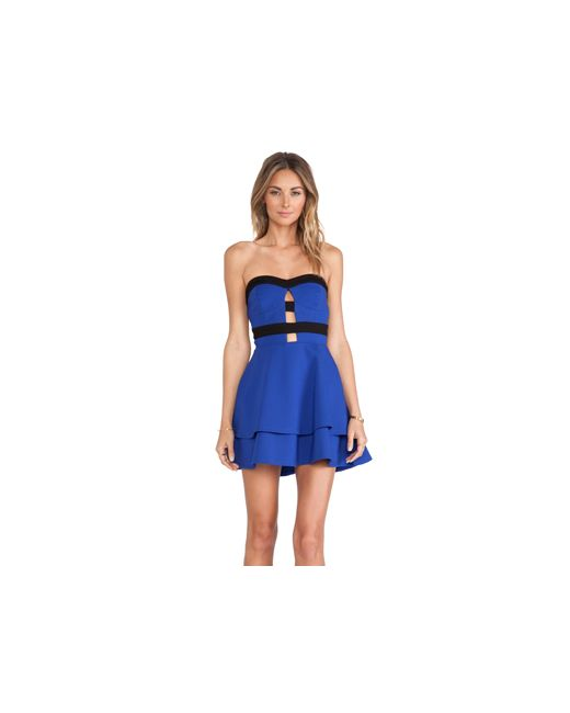 NBD | Женское Синее Приталенное И Расклешенное Платье Cant Wait