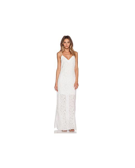 Nikki Reed for REVOLVE | Женское Белое Платье-Комбинация Эксклюзив Roe
