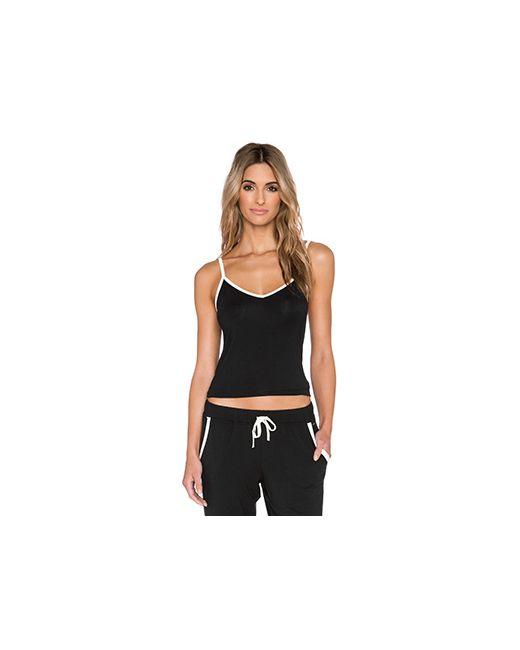 Calvin Klein   Женская Чёрная Майка На Бретелях Ck Premium Vivid Underwear
