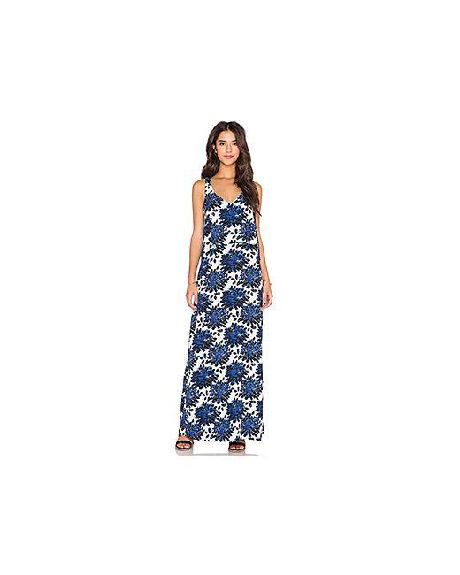 Splendid | Женский Синий Макси Платье Mediterranean Blossom