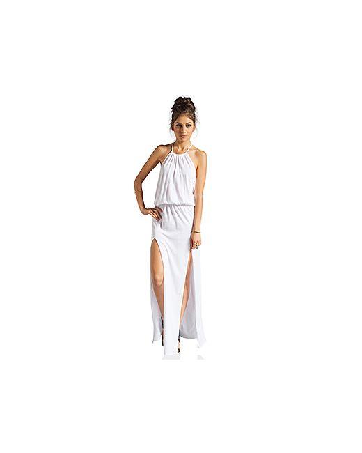 Blue Life | Женское Белое Платье На Бретельках С Двумя Разрезами