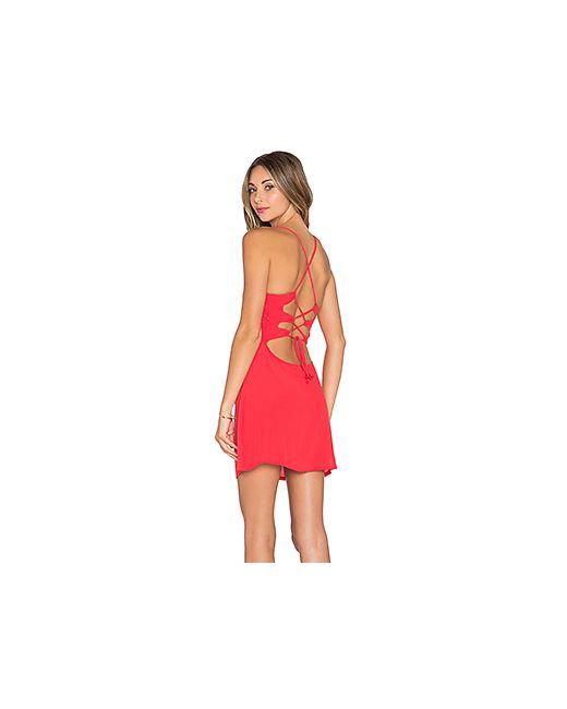 NBD | Женское Красное Обтягивающее Платье Lauren