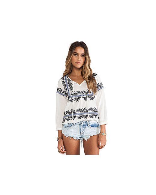 Raga | Женская Белая Блуза С Вышивкой