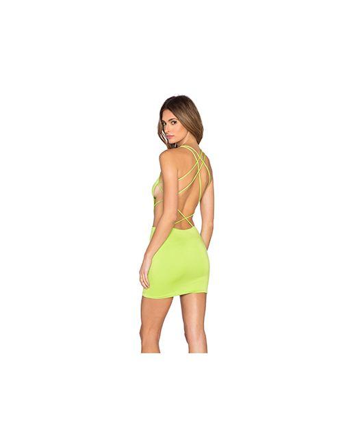 Indah | Женское Зелёное Платье Akina