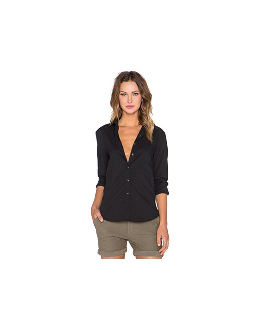 James Perse | Женская Чёрная Рубашка