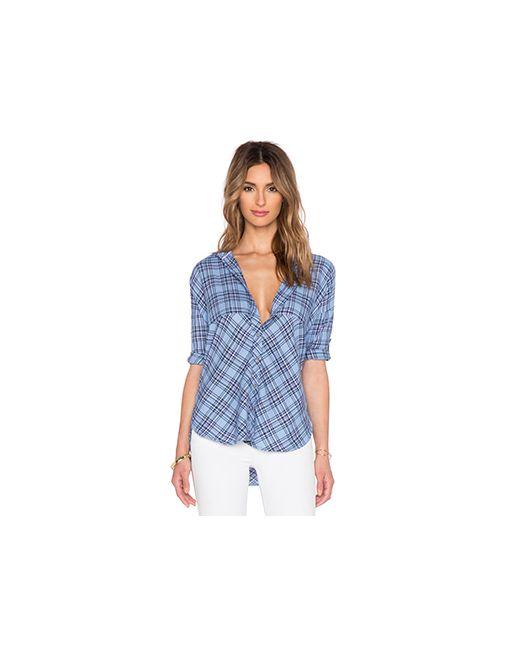 C & C California | Женская Синяя Рубашка 3/4 Sleeve Cc California
