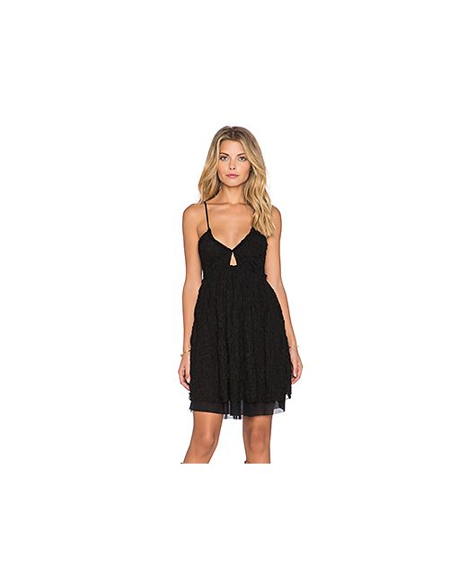 Free People | Женское Чёрное Кружевное Платье Nicolette
