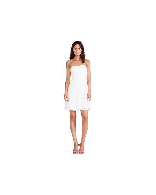 Diane Von Furstenberg | Женское Белое Кружевное Платье Amira