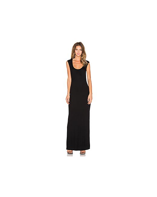 Heather   Женское Чёрное Платье Миди