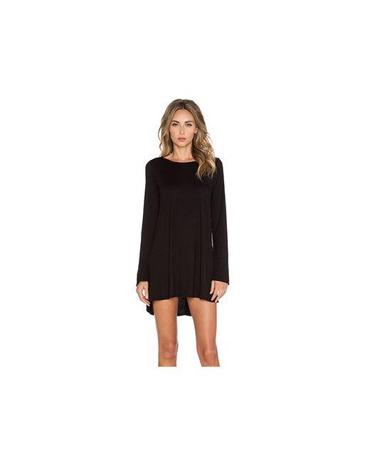 Michael Lauren | Женское Чёрное Платье С Длинным Рукавом Harvest