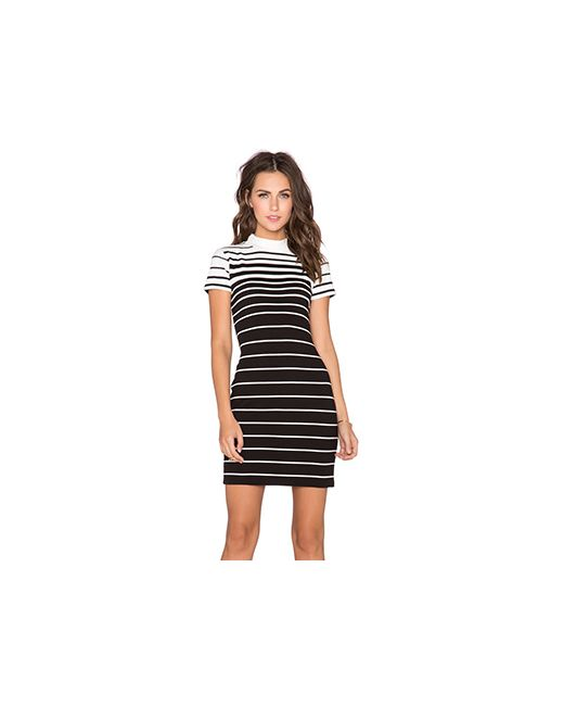State of Being | Женское Чёрное Платье Faded Stripe