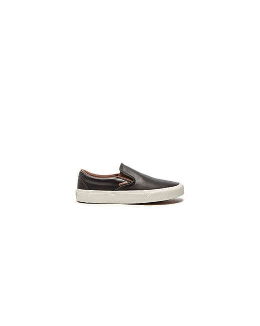 Vans | Мужские Чёрные Кроссовки California Classic Slip On Veggie Leather