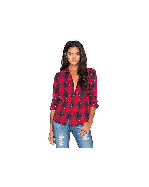 Obey   Женская Красная Рубашка Redwood