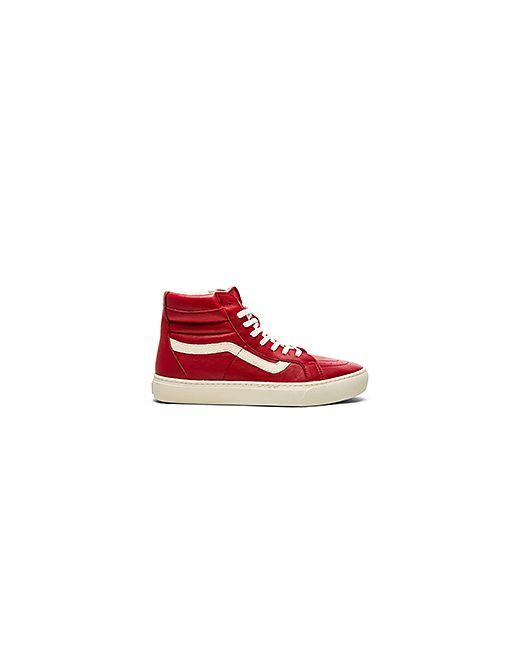 Vans   Мужские Красные Кроссовки California Sk8 Hi Cup Leather