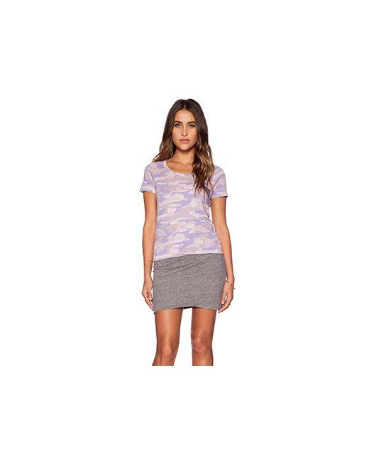 Monrow | Женское Фиолетовое Платье-Футболка Camo