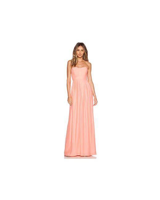 Parker | Женский Персиковый Макси Платье Bayou