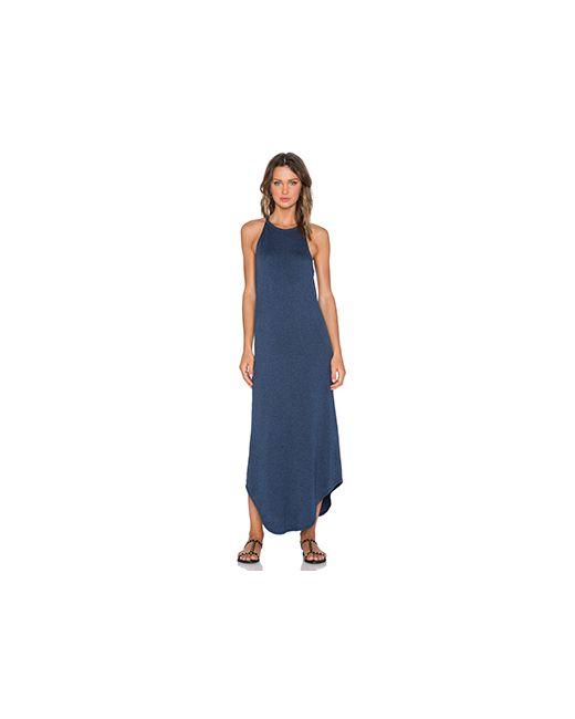 Lna | Женское Синее Платье-Майка Leigh