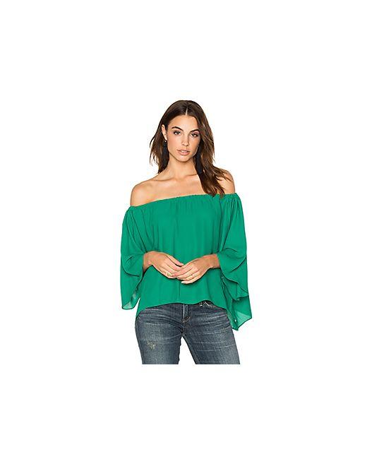 krisa | Женское Зелёный Off Shoulder Drape Top