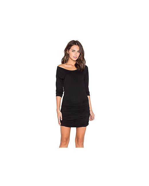 Bobi | Женские Чёрные Мини Платье Light Weight Jersey